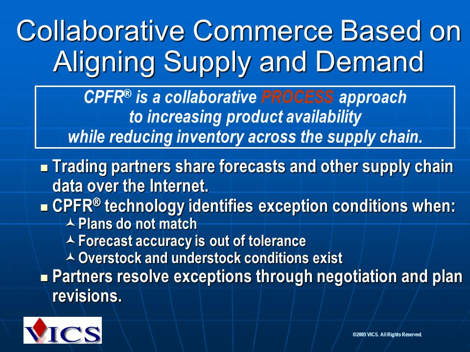 Collaborative Commerce Based on Aligning Supply and Demand