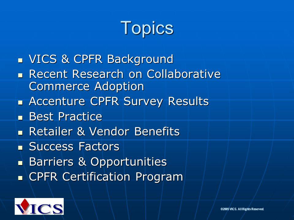 Topics VICS & CPFR Background