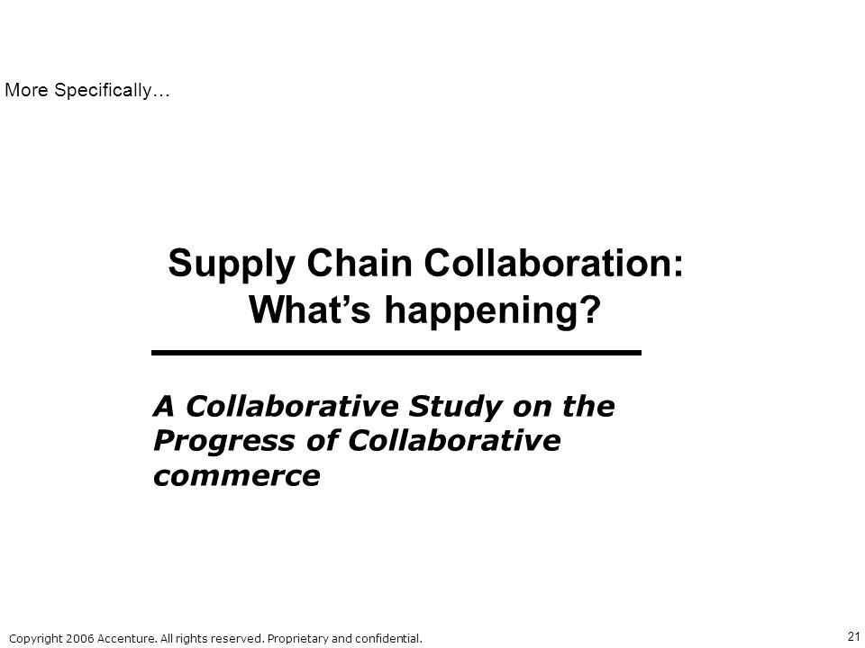 Supply Chain Collaboration: