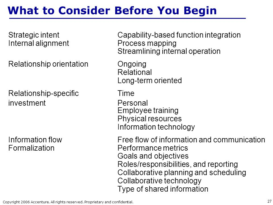 What to Consider Before You Begin