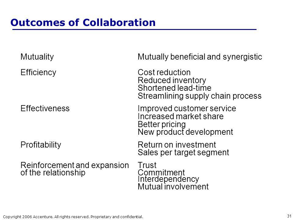 Outcomes of Collaboration