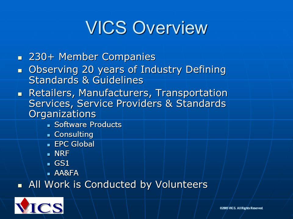 VICS Overview 230+ Member Companies