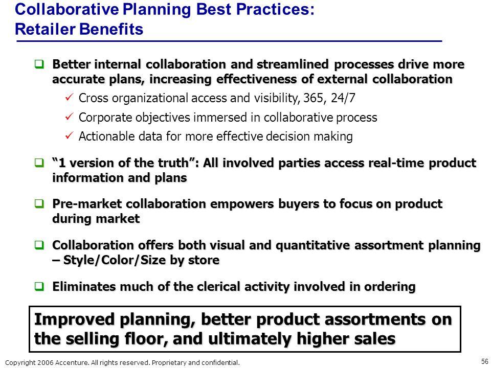 Collaborative Planning Best Practices: Retailer Benefits