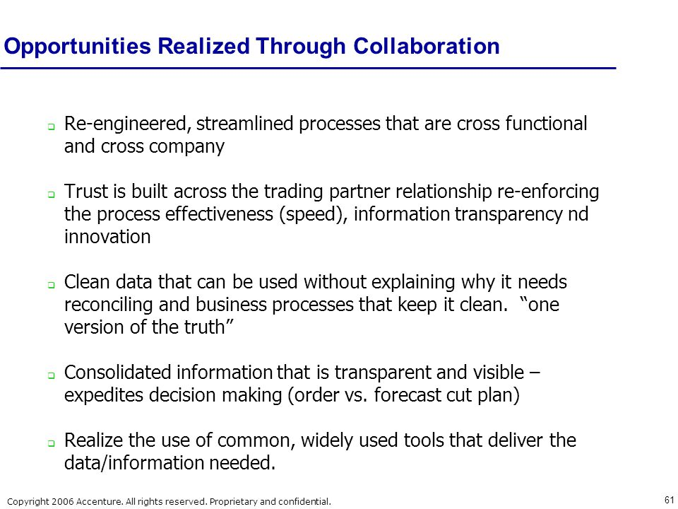 Opportunities Realized Through Collaboration