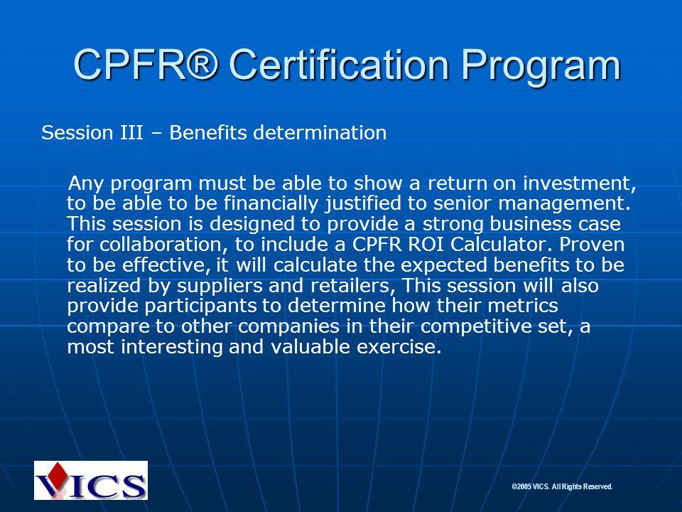 CPFR® Certification Program