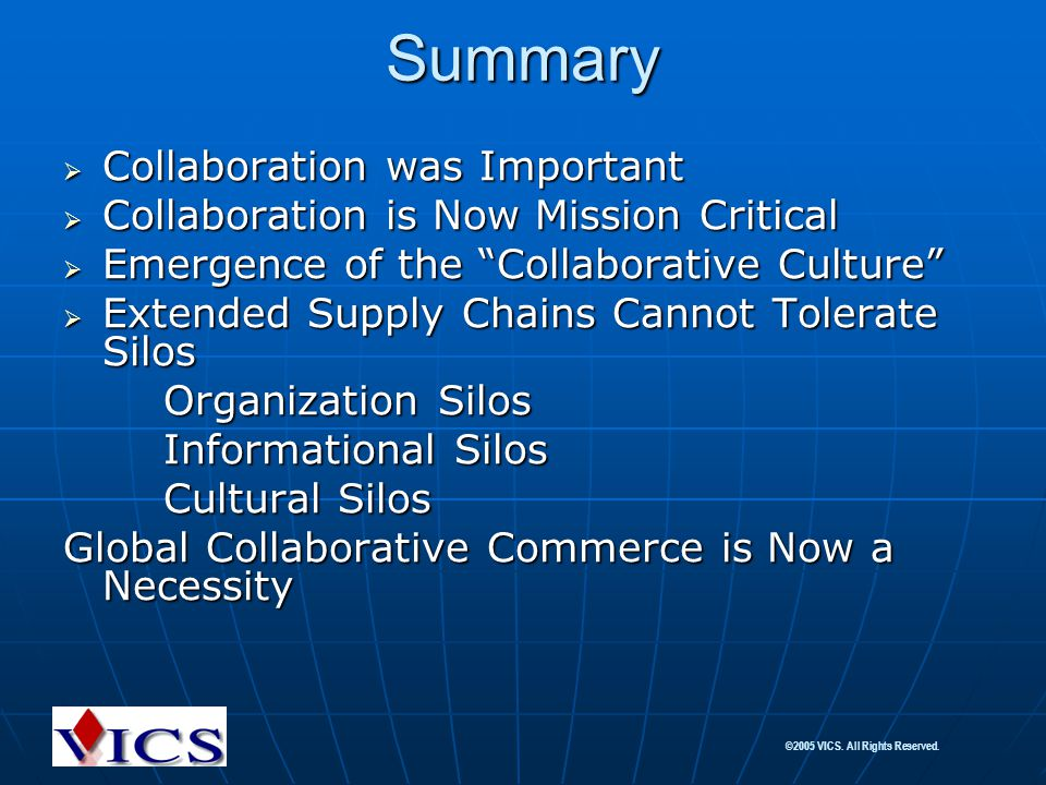 Summary Collaboration was Important