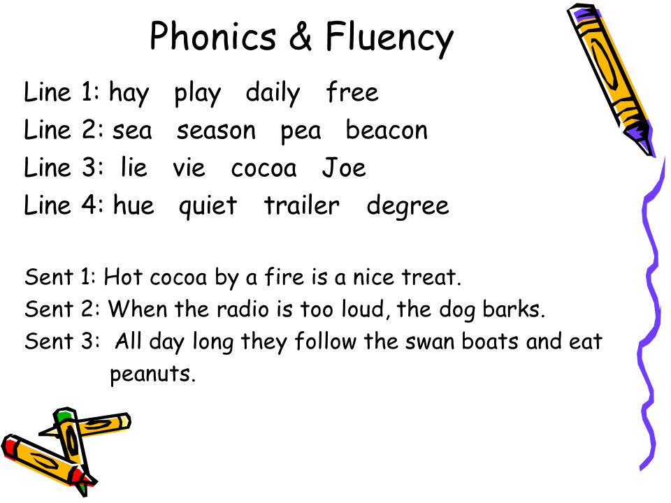 Phonics & Fluency Line 1: hay play daily free