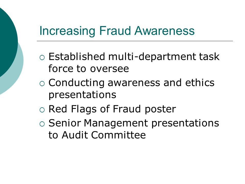 Increasing Fraud Awareness