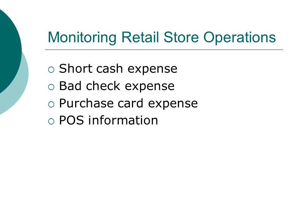 Monitoring Retail Store Operations