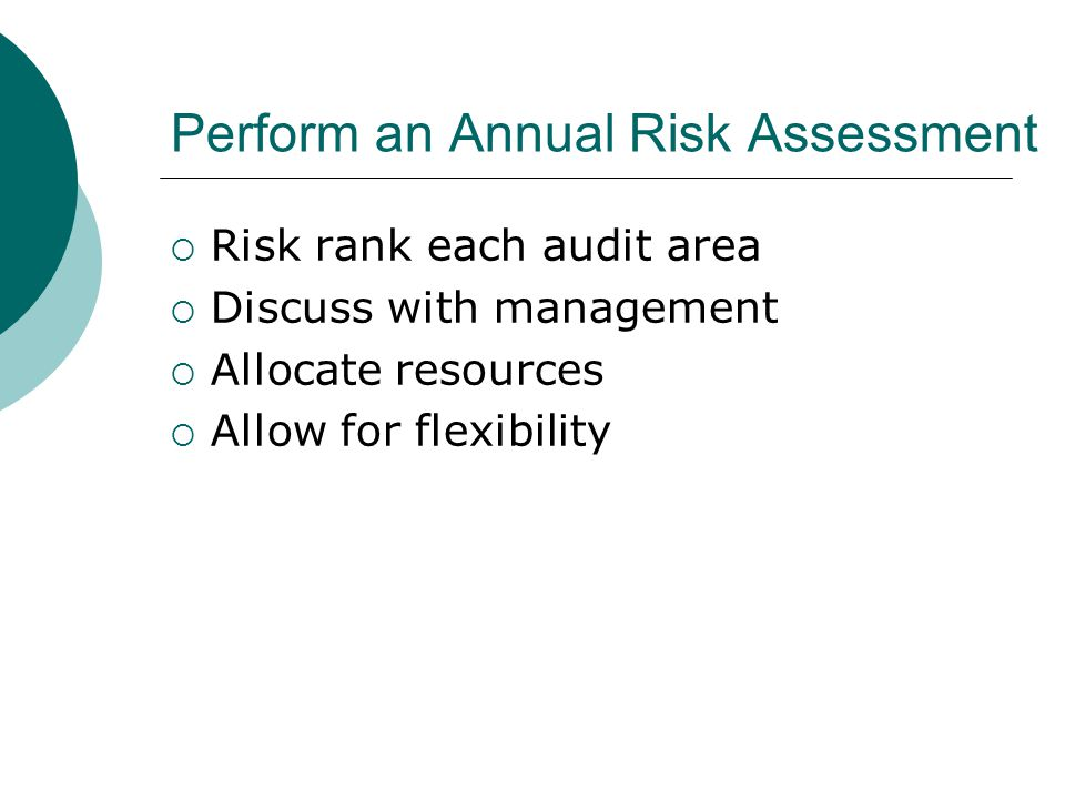 Perform an Annual Risk Assessment