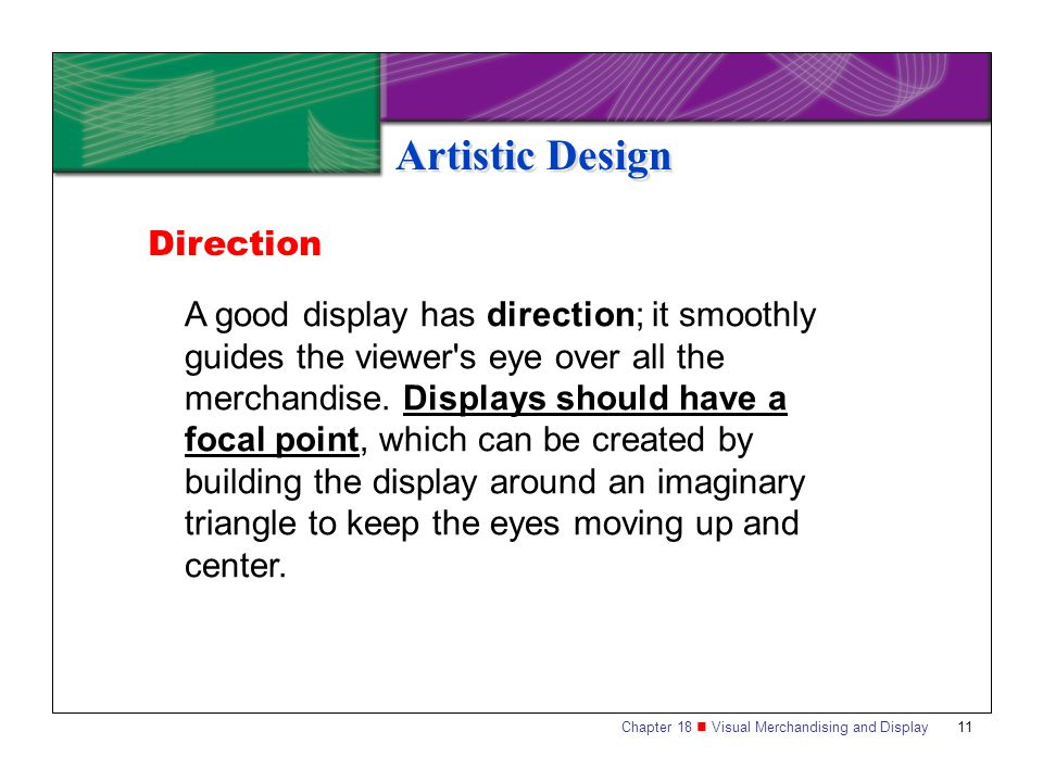 Artistic Design Direction