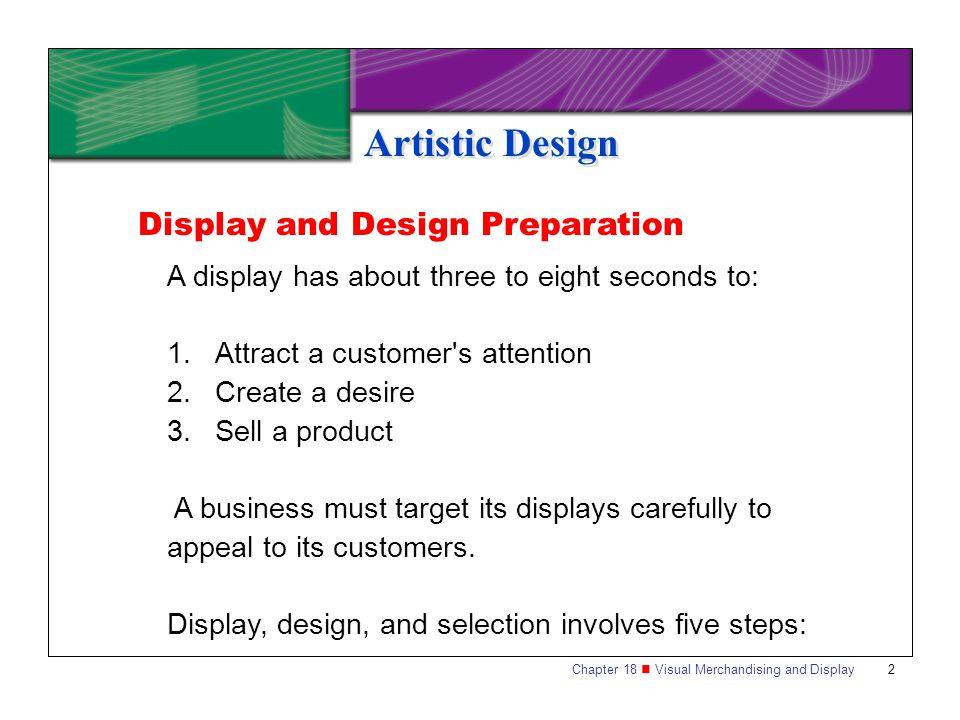 Artistic Design Display and Design Preparation