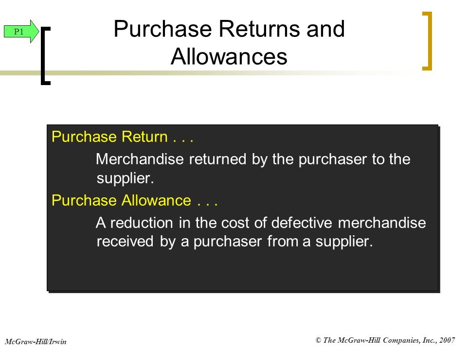 Purchase Returns and Allowances