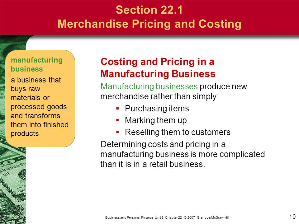 Section 22.1 Merchandise Pricing and Costing
