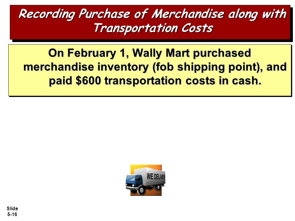 Recording Purchase of Merchandise along with Transportation Costs