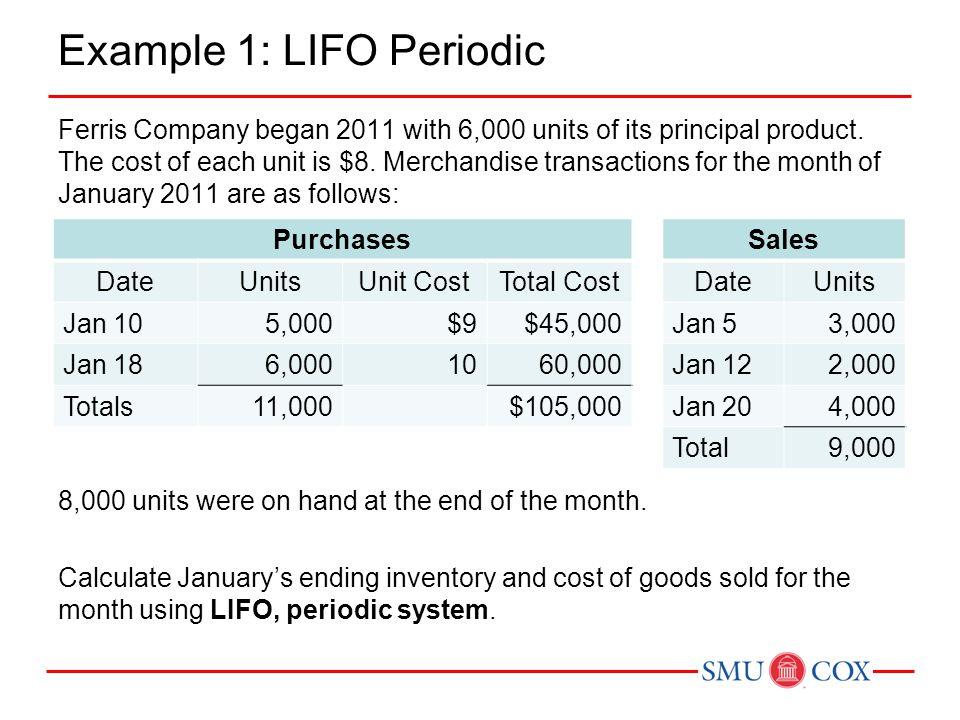 Example 1: LIFO Periodic