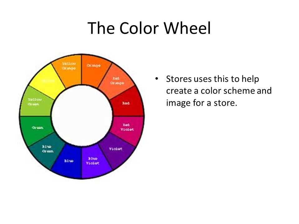The Color Wheel Stores uses this to help create a color scheme and image for a store.