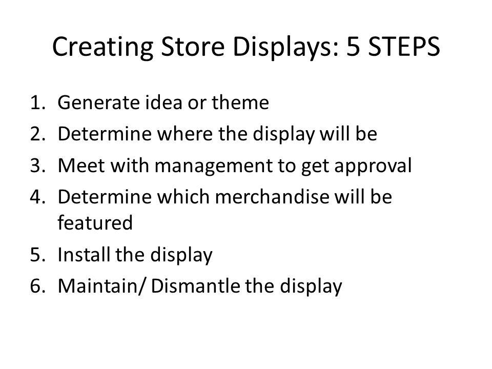 Creating Store Displays: 5 STEPS