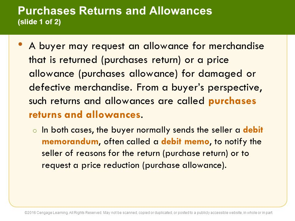 Purchases Returns and Allowances (slide 1 of 2)