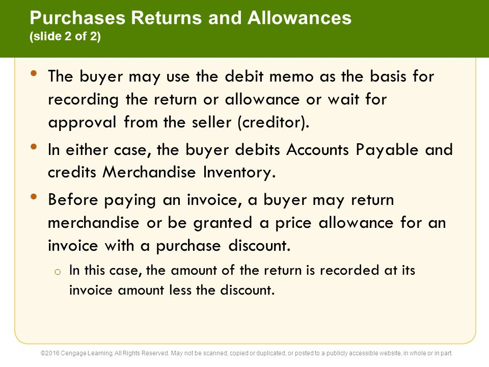 Purchases Returns and Allowances (slide 2 of 2)