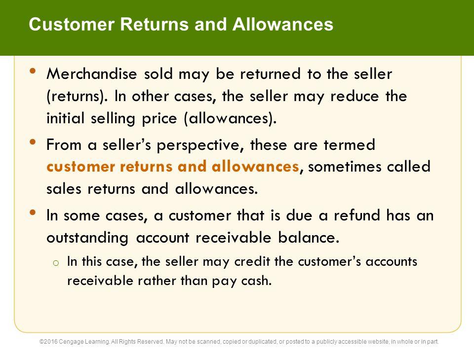 Customer Returns and Allowances