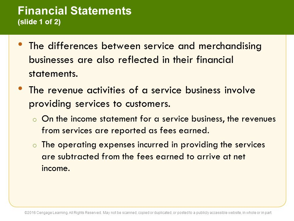 Financial Statements (slide 1 of 2)