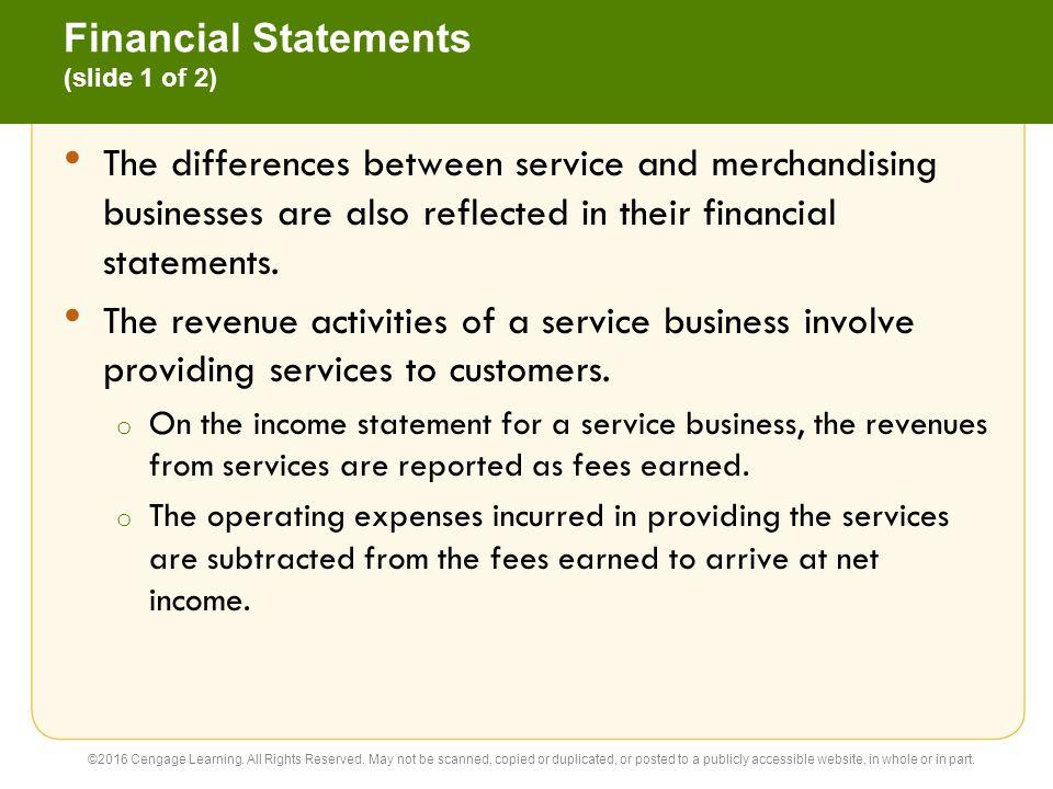 Financial Statements (slide 1 of 2)