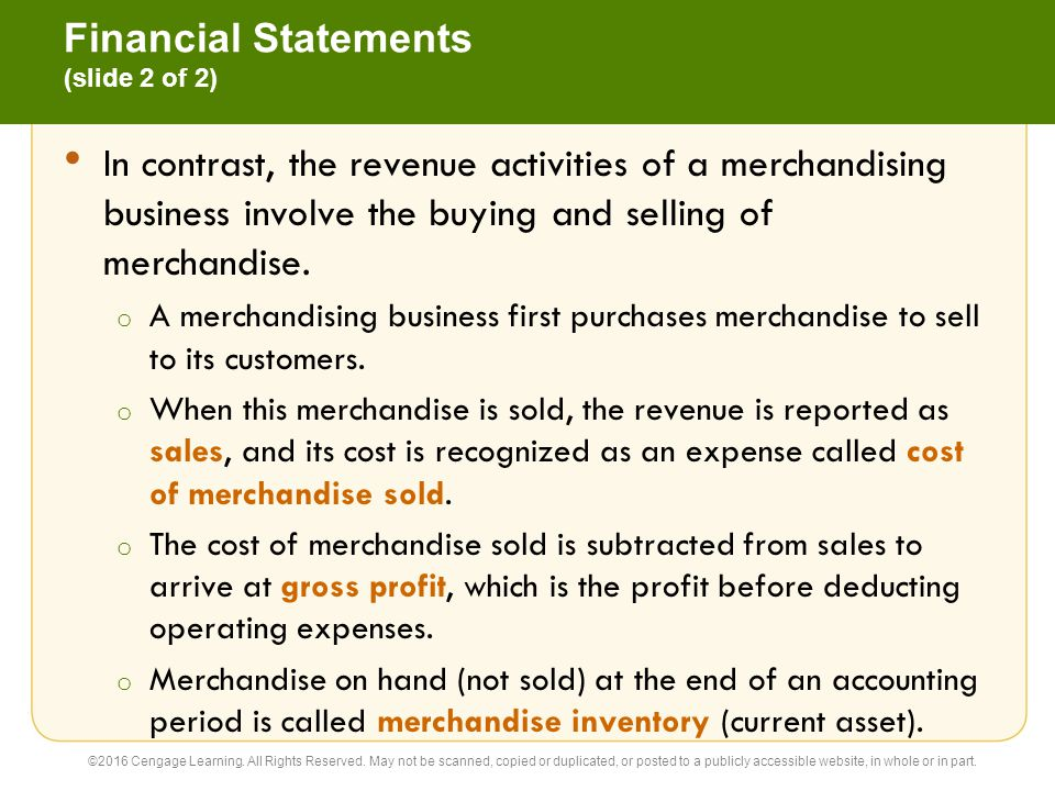 Financial Statements (slide 2 of 2)