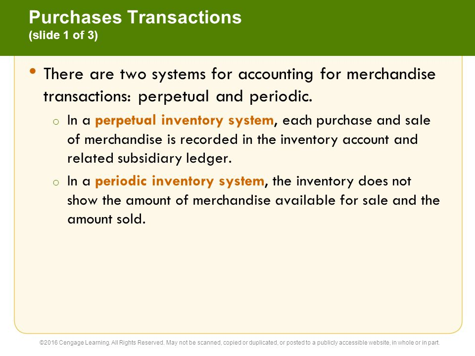 Purchases Transactions (slide 1 of 3)