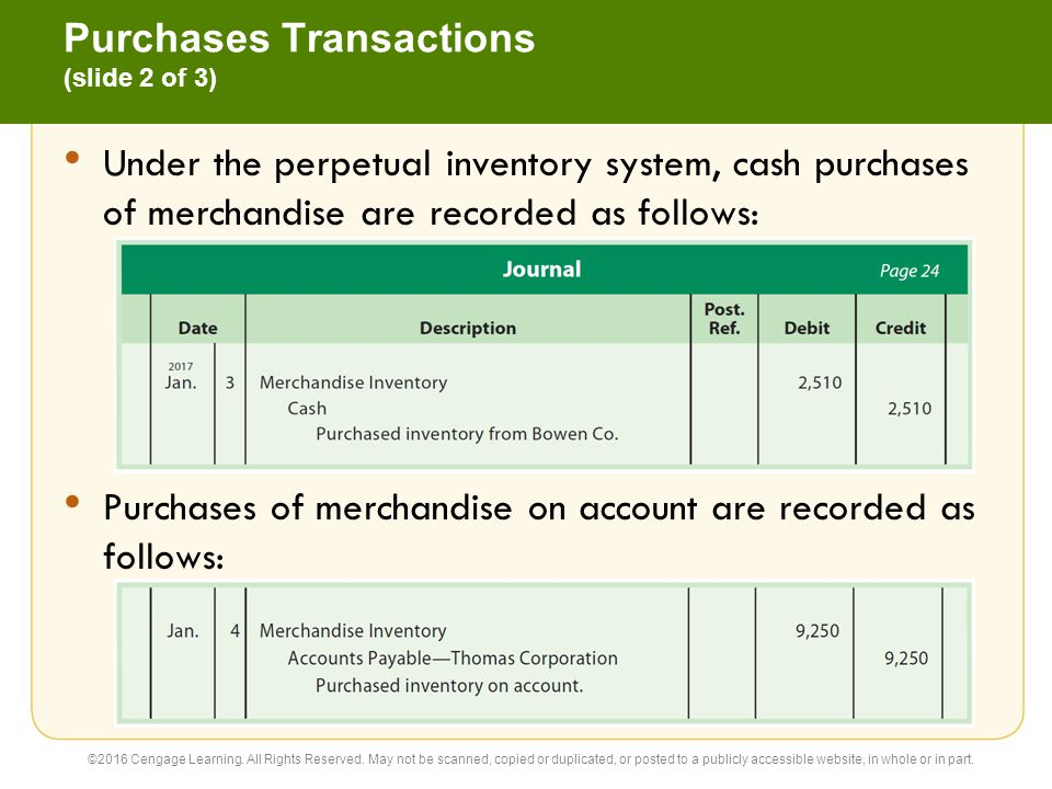 Purchases Transactions (slide 2 of 3)