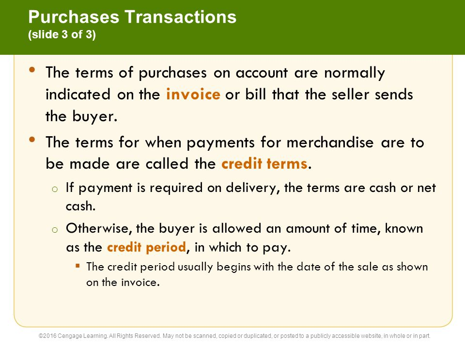 Purchases Transactions (slide 3 of 3)