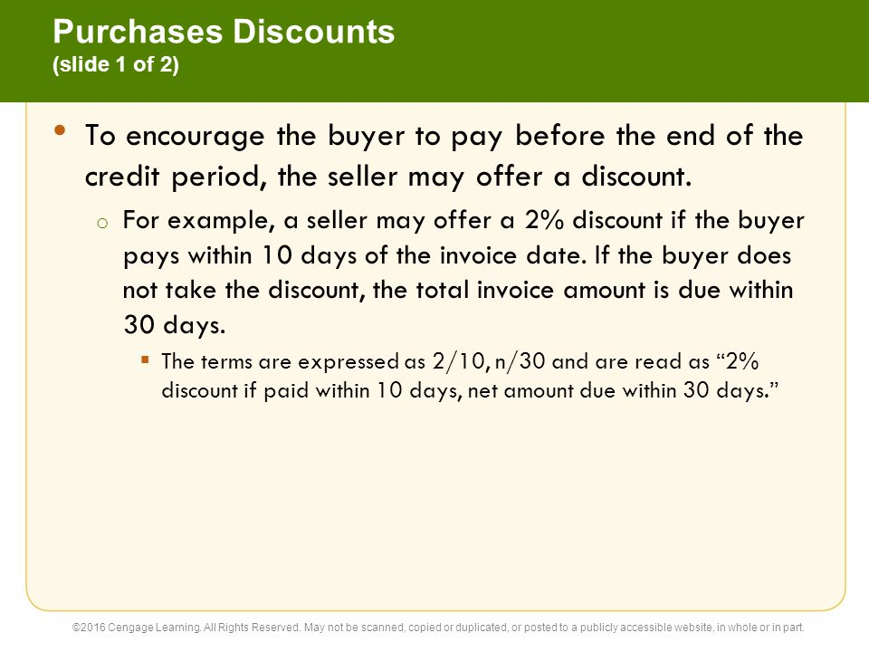 Purchases Discounts (slide 1 of 2)