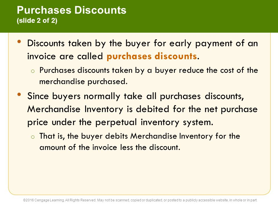 Purchases Discounts (slide 2 of 2)
