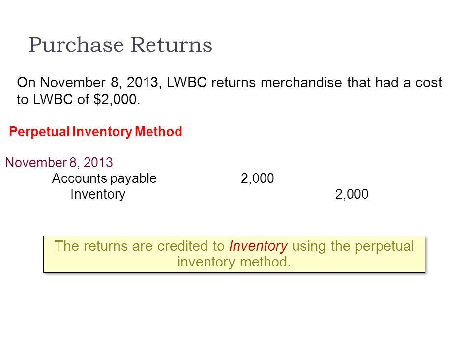 Perpetual Inventory Method