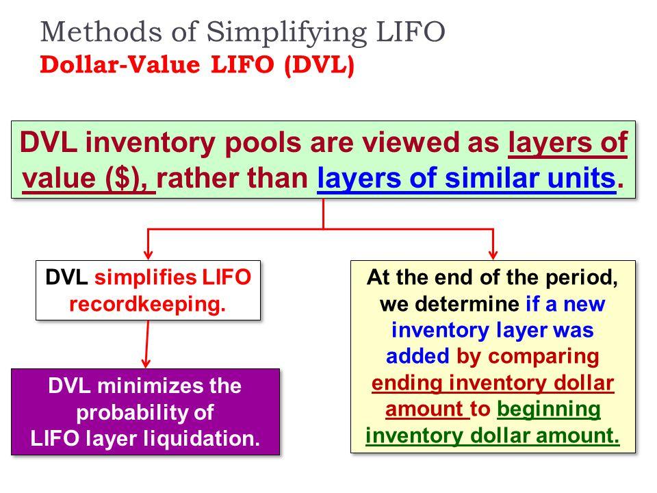 Methods of Simplifying LIFO Dollar-Value LIFO (DVL)