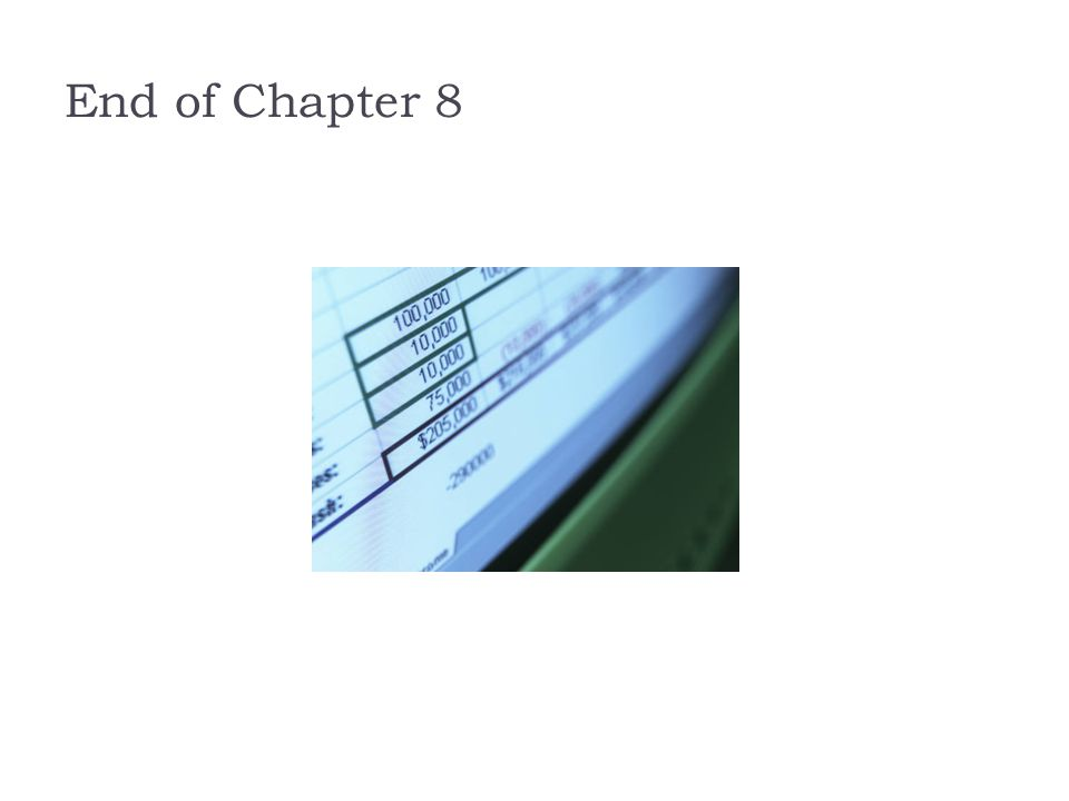 End of Chapter 8 End of Chapter 8.