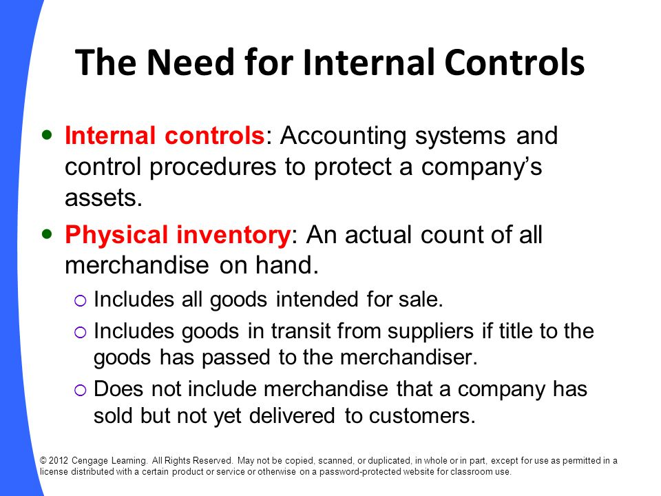 The Need for Internal Controls
