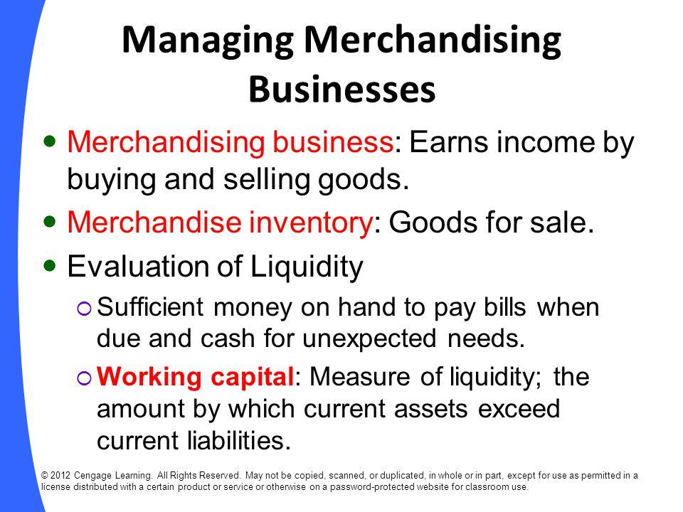 Managing Merchandising Businesses