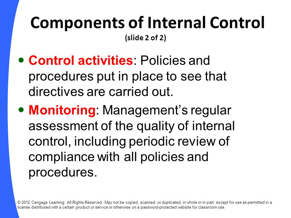 Components of Internal Control (slide 2 of 2)