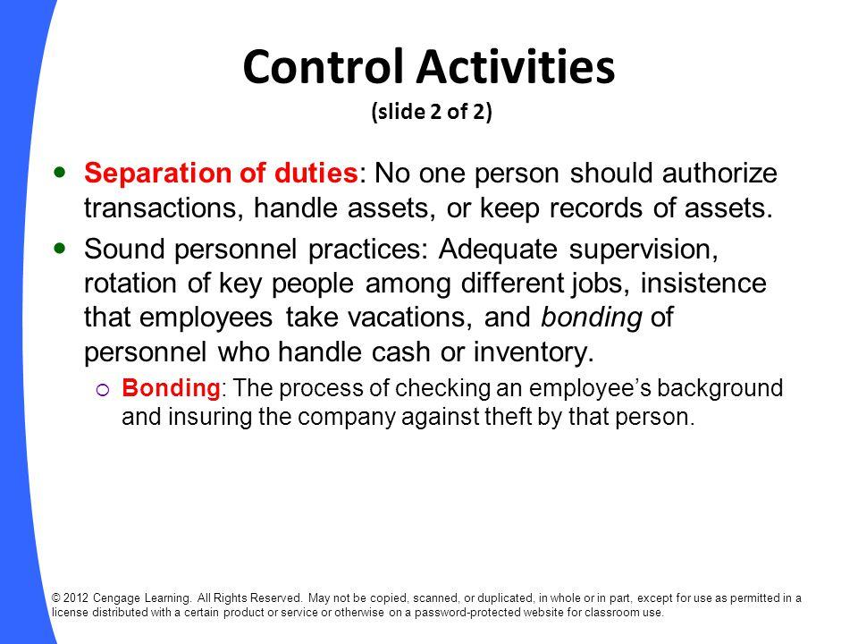 Control Activities (slide 2 of 2)