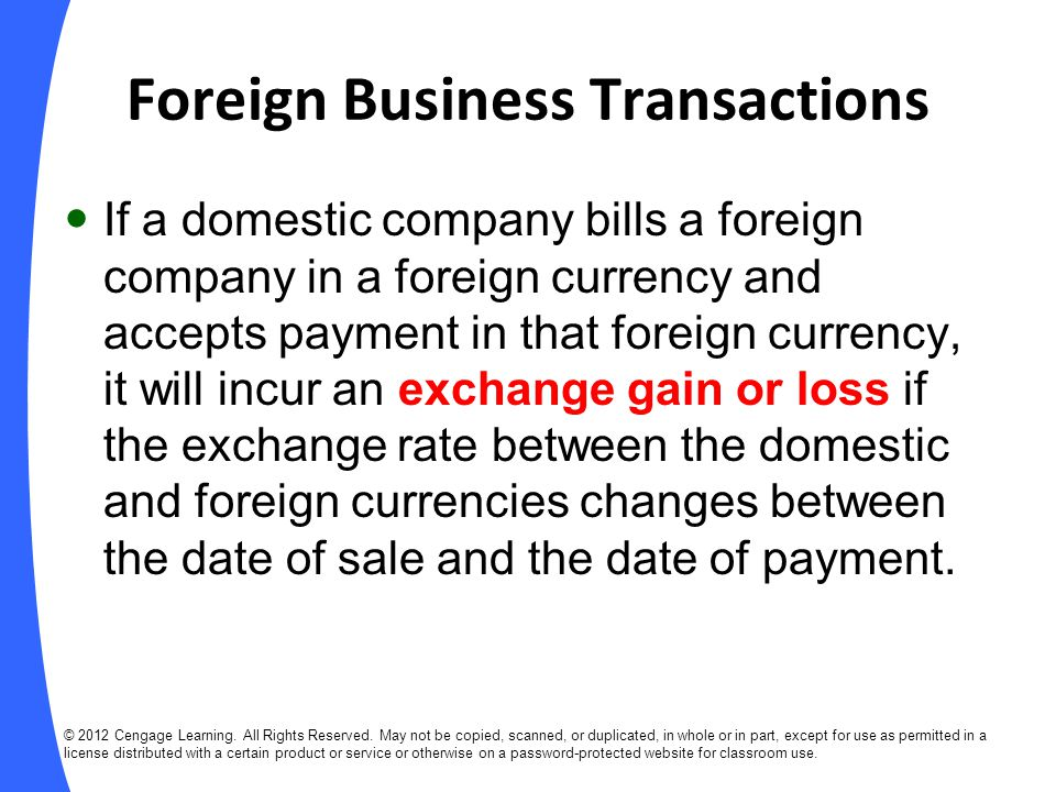 Foreign Business Transactions