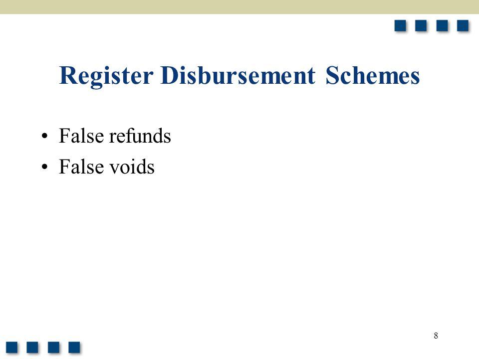 Register Disbursement Schemes