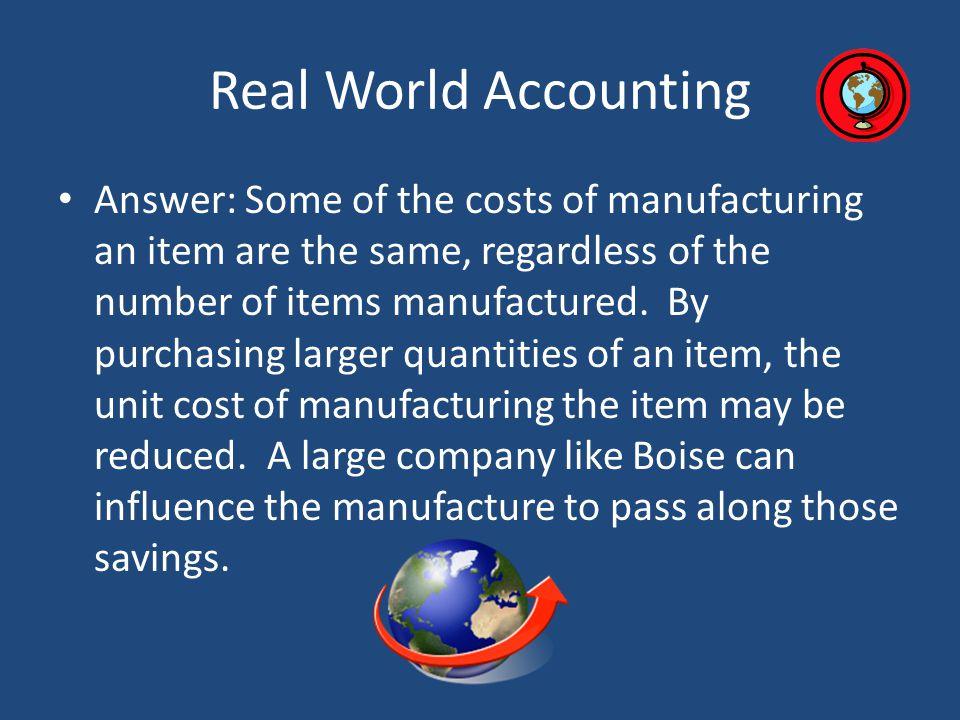 Real World Accounting