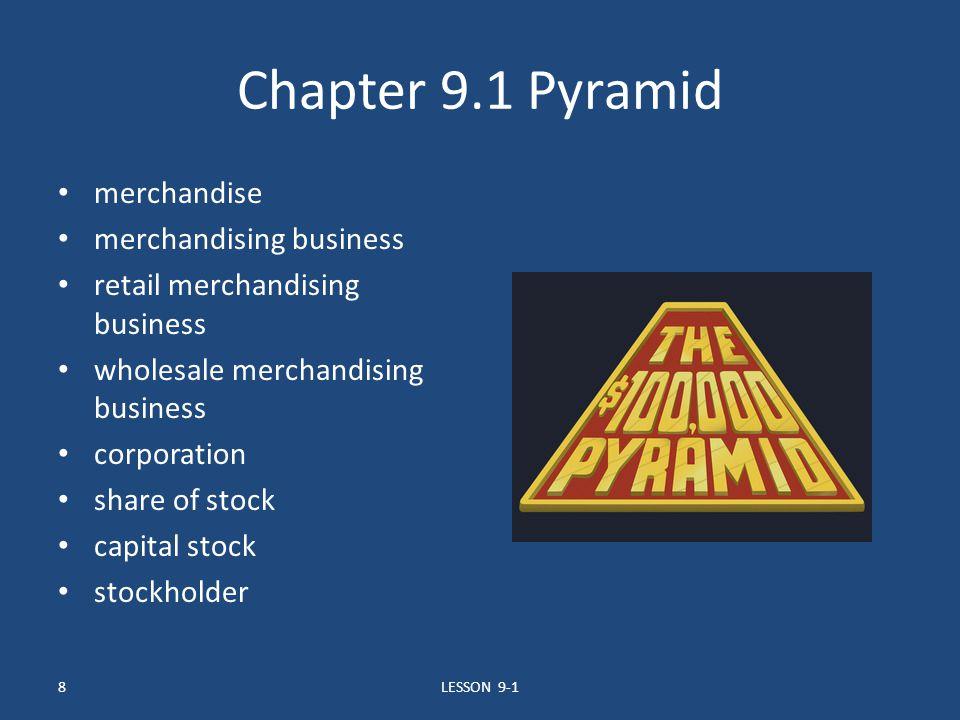 Chapter 9.1 Pyramid merchandise merchandising business