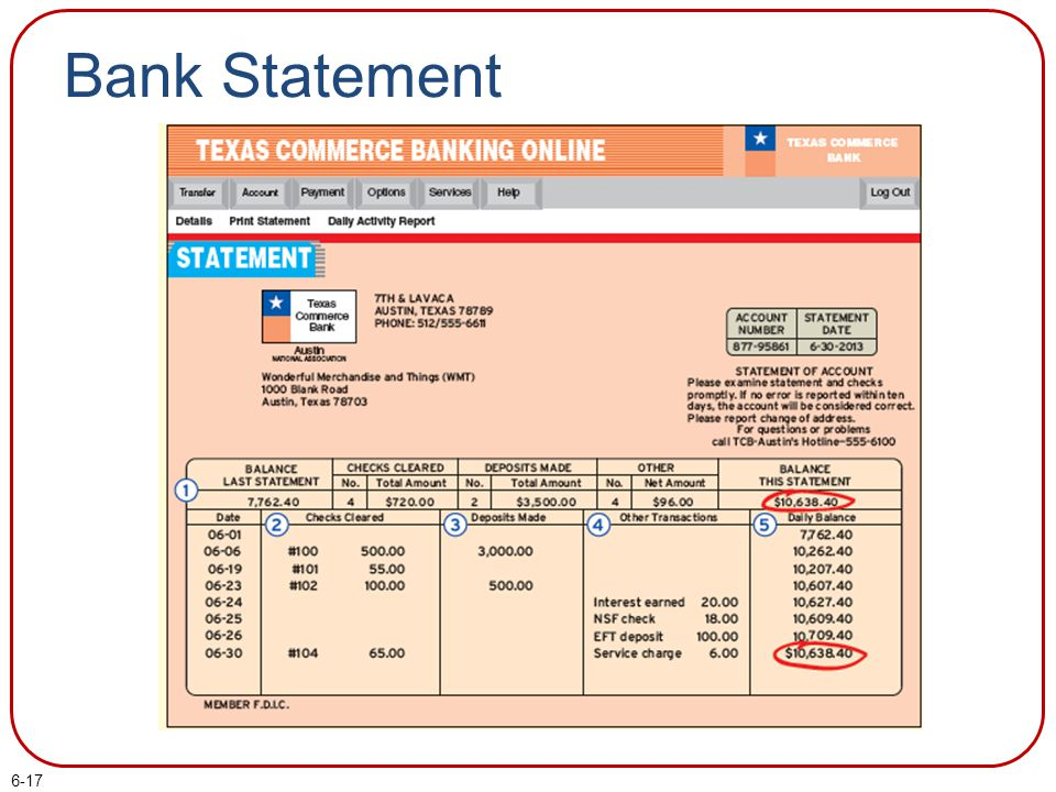 Bank Statement
