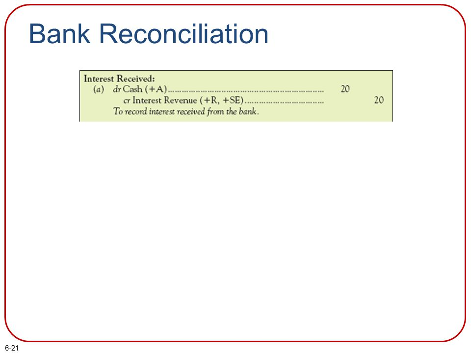 Bank Reconciliation Part I