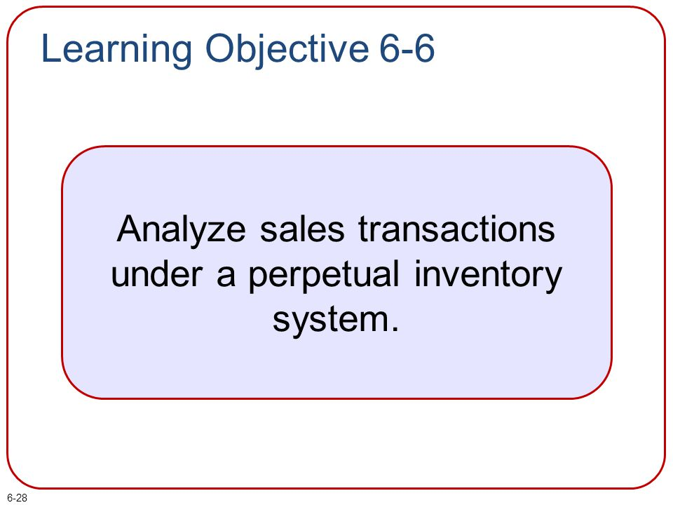 Analyze sales transactions under a perpetual inventory system.