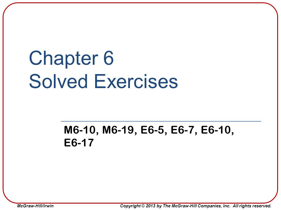 Chapter 6 Solved Exercises