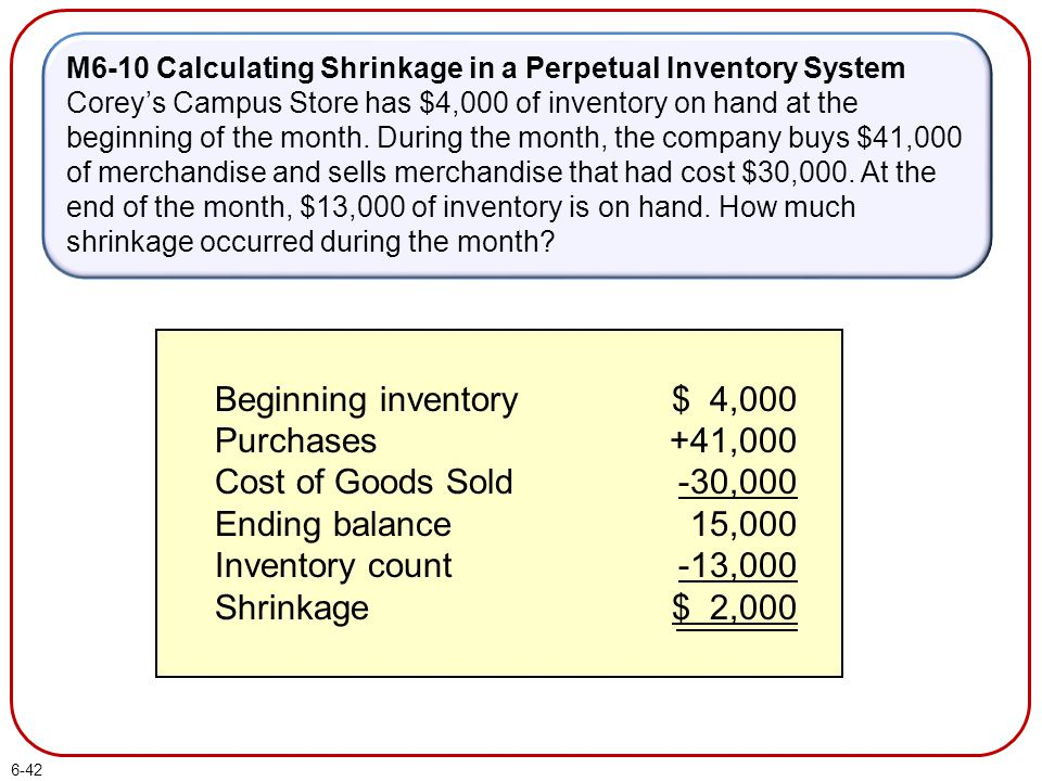 Beginning inventory Purchases Cost of Goods Sold Ending balance