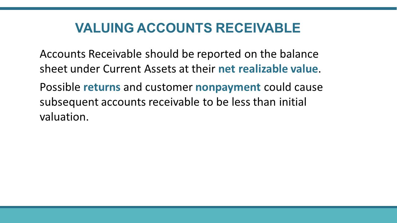 VALUING ACCOUNTS RECEIVABLE
